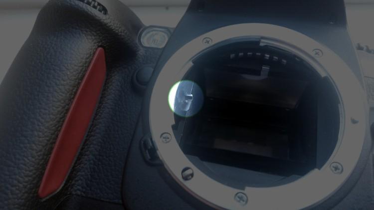 Nikon D100 aperture lever